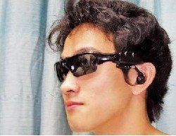 Wholesale and retail charm Glasses MP3 player sunglasses MP3 2GB MEMORY(China (Mainland))