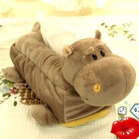 NICI cartoon plush hippo Tissue Box Cover Holder car bath room accessories  free shipping