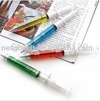20pcs/lot Ball point pen syringe pens Creative Idea Gift + Gift&Free Shipping
