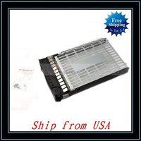 "Free Shipping + 5pcs/lot For HP 3.5"" LFF SAS FC Tray Hard Drive Caddy 373211-002 Ship from USA-CX006"