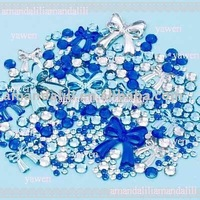 free shipping bulk pack rhinestone for phone decoration(about 300pcs in one set)