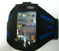 Free shipping 30pcs/ lot net pattern sport armband for iphone 4 / iphone accessory