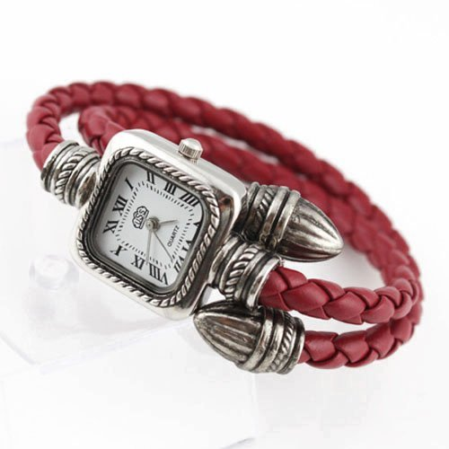 Free shipping.Wholesale 2011 New sweet style lady fashion bracelet watch.Hand-woven watch,Leather watch(China (Mainland))