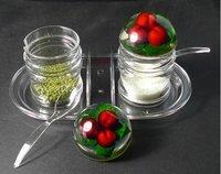 Wholesale Kitchen appliances kitchen spice jar gift ideas kitchen cruet set 10pcs/lot free shipping
