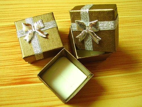 4x 4x3cm Jewelry Packaging Ring & Earring Gift Box+FREESHIPPING(China (Mainland))