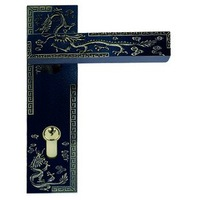 Wholesale- Dragon Pattern Zinc Alloy Lever Handle door lock Free Shipping