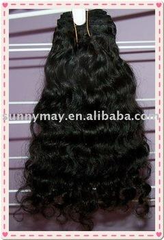 natural color 100% Indian virgin hair natural curl stock hair extension