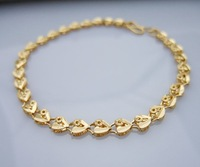 Wholesale Super deal New arrival fashion Jewelry plating 24K gold Bracelet 8 inch Super price !Free Shipping ZKB4
