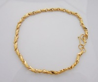 Wholesale Super deal New arrival fashion Jewelry plating 24K gold Bracelet 8 inch Super price !Free Shipping ZKB8