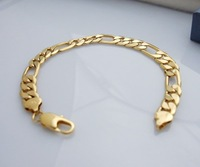 Wholesale Super deal New arrival fashion Jewelry plating 24K gold Bracelet 8 inch Super price !Free Shipping ZKB10