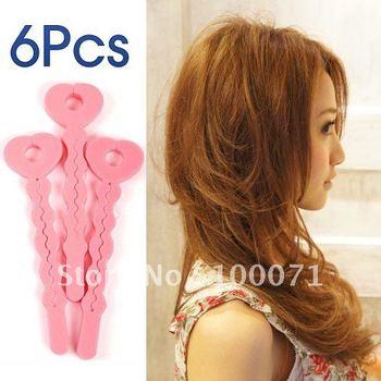 2Pack Magic Sponge Hair Soft Curler Roller Strip Tool 6Pcs #3445