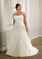 w643 New style chiffon plus size wedding dress