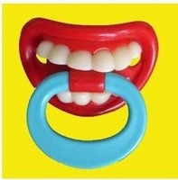 free shipping, 100% Gurantee, FUNNY BABY PACIFIER with blue ring(100pcs/lot)
