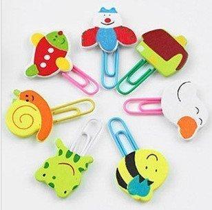 1000 pcs/lot Wooden Clip pins Craft Bookmark Cartoon clip Korea Kids Creative Gift