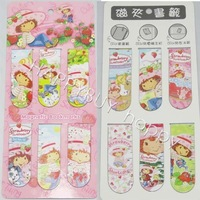 Free Shipping Strawberry Girl Anime School Book Marks Bookmarks Set 6pcs per set