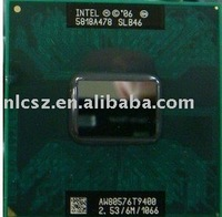 free shipping + Wholesale Laptop Intel CPU T 9 4 0 0  S L B 4 6 2.53MHz BGA479, PGA478 6M 1066MHz