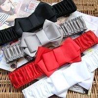 100% New free shipping fashion Ms. Belt / Wide Belt / Bow girdle / silk butterfly belt 4color 4pcs/lot