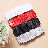 flower buckle. elastic band. lady belt.MULTI COLOR. waist belt. big discount