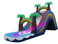 Inflatable jungle slide GK-WS10+1pcs blower+repair kit+free shipping by sea--wholesale&retail
