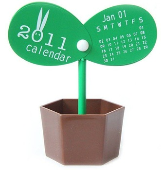 Free Shipping, DIY Calendar,whoesale Desktop Calendar ,Innovative multi-function pots Calendar,Special New Year gift