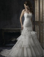 Free shipping best selling sweetheart Wedding Dresses any size/color wholesale/retail