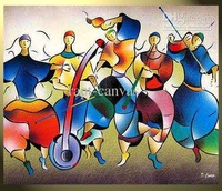 Canvas-modern-painting-Music-decoration-Pop-abstract-handmade-MUSIC-0060