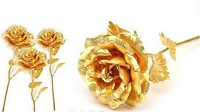 Wholesale Great Valentine's day gifts 24k gold rose
