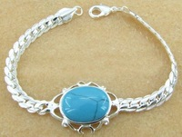 Free ship fee 925 sterling silver turquoises bracelet fashion gift DM_B012