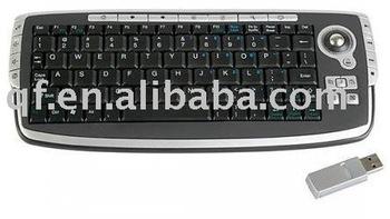 10PCS free shipping retail 2.4G Wireless Multimedia Keyboard Mouse/Mini USB Wireless Keyboard  Phone