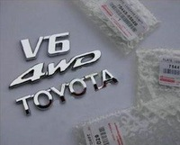 Toyota Highlander logo 3 pieces 4WD V6 TOYOTA ABS electroplate wholesale modification  UPS EMS CHINA POST AIR