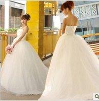 Wholesale / retail free shipping Gorgeous Aline Wedding Dress Wedding Gown Bridal Dress stock SZ:.M..XL