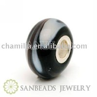 free shipping beads fit 1 pcs factory price 925 silver murano coffee colour beads wholesale