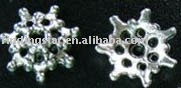 FREE SHIPPING 900Pcs Tibetan Silver cut out flower bead caps A523