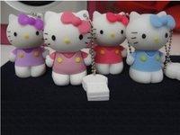 4GB Soft PVC usb flash disk Hello Kitty model promotion gift  free shipping