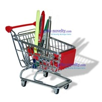 wholesale 10pcs/lot Mini Shopping Trolley Desk Gadget Container 3 colors