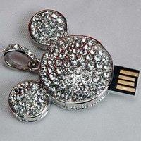 Wholesale - mickey jewelry u disk full  true capacity real 2gb 4gb 8gb 16GB jewelry mickey usb flash driver disk+Free Shipping