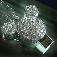 Wholesale/retail 100% real capacity  mickey jewelry u disk 2gb 4gb 8gb 16gb  usb flash driver disk MOQ:1pcs+Free Shipping
