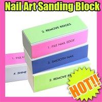 Fast & Free Shipping 4-ways Nail Art Sanding Block File Acrylic Gel S145
