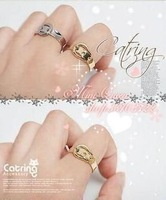 (Order total price below 6USD is not shipped) unique belt small alloy rings (only gold color)