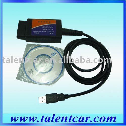 ELM327 Interface Bluetooth OBD2 Auto Scanner V1.4 OBDII OBD 2 II(Hong Kong)