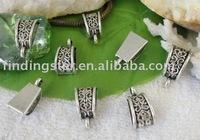 FREE SHIPPING 120pcs Tibetan silver fancy european bead bail fit charm bracelet A10411