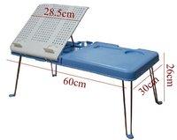 Folding laptop/notebook table for bed- bed desk- adjustable- cooler/cooling- pad/stand - sample