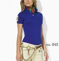Free shipping Women's golf t-shirts,brand short sleeve shirts.100% cotton turn down collar short shirts.12 colors,mix order.