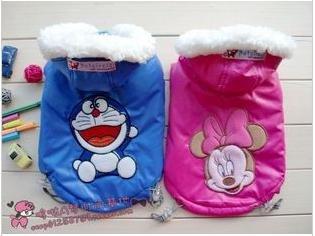 Novo inverno terno de esqui roupas pet bonito dos desenhos animados kitty Minnie roupas(China (Mainland))