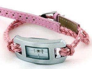 Free shipping!Fashion lady girl's watch spring summer dress Fashion leather braid bracelet watch wristwatch