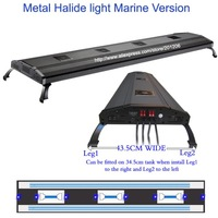 "ODYSSEA Aqarium Lighting/Fish tank lamp 72"" Metal Halide HQI+ T5 770W/Mounting legs"