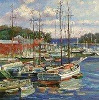 Landscape oil painting ,Venice Landscape, Hot,Contemporary Art (Hand painted canvas art )Venice-004