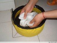 (Free Shipping)RDFB-011 5L Foldable PVC Tarpaulin Dog Bowl