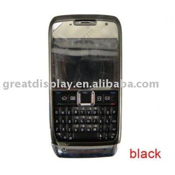 Free shipping+50pcs/lot,black Full New faceplates housing cover case + keypad for Nokia e71 cell phone,PE bag