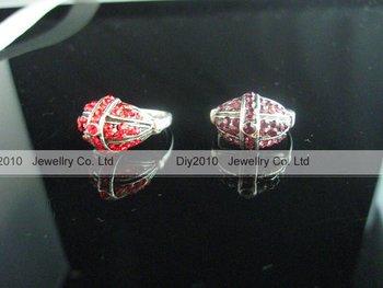 50 pcs lot Free Shipping colorful rhinestone Tibetan silver alloy ring, vintage ring, fashion ring